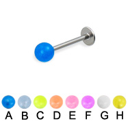 Glow-in-the-dark ball labret, 18 ga
