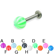 Beach Ball Titanium Labret, 14 Ga