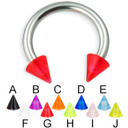 UV cone horseshoe ring, 12 ga