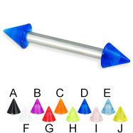 UV cone straight barbell, 12 ga