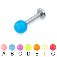 Glow-in-the-dark labret, 12 ga