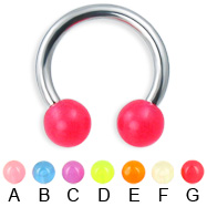 Glow-in-the-dark circular barbell, 12 ga