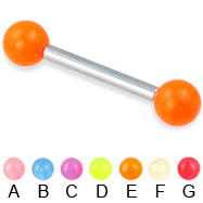 Glow-in-the-dark straight barbell, 12 ga
