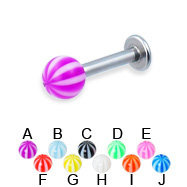 Beach ball labret, 12 ga