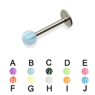 Labret with beach ball, 16 ga