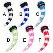 0 gauge acrylic striped tusk