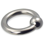Titanium Captive Bead Ring, 6 Ga