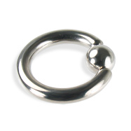 Titanium Captive Bead Ring, 8 Ga