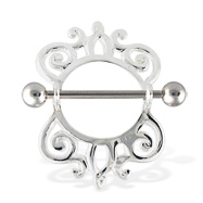 Fancy Nipple Ring, 14 Gauge