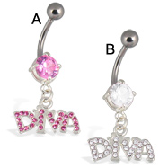 Diva belly button ring