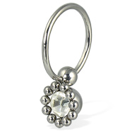Multi-ball captive bead ring, 14 ga