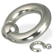 Spring ball captive bead ring, 2 ga