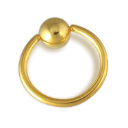 Gold Tone captive bead ring, 14 ga