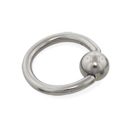 Titanium captive bead ring, 12 ga