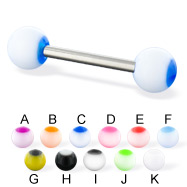 Panda ball straight barbell, 14 ga