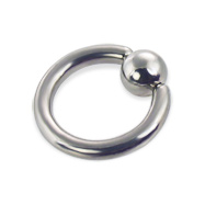 Captive bead ring, 10 ga