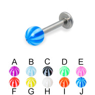 Beach ball labret, 14 ga