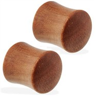 Pair Of Organic Saba Wood Saddle Plugs