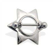 Pair of star nipple shields, 14 ga