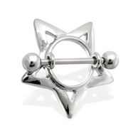 Pair of steel star nipple shields, 14 ga