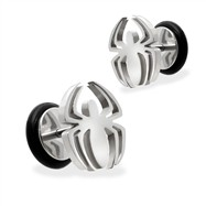 Pair Of Fake Spider Top Plugs, 16G