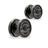 Pair Of Fake Dumbell Plugs, 16GA