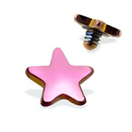 Internally Threaded Titanium Star Dermal Top, 14GA, 4mm, Purple