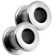 Pair Of Threaded Steel Tunnels