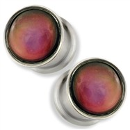 Pair Of Color Changing Double Flair Mood Ring Plugs