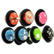 Pair of Fake Acrylic Splat Plugs, 16 Gauge