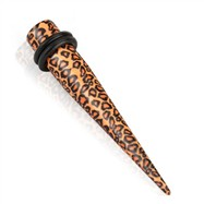 Pair of Acrylic leopard print taper