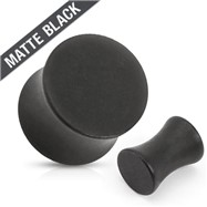 Saddle Plug Surgical Steel Solid Matte Black