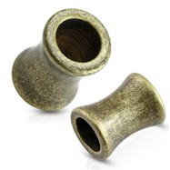 Pair Of Brushed Vintage Surgical Steel Saddle Fit Tunnels