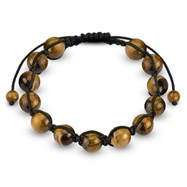Tiger's Eye Round Bead Bracelet