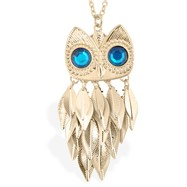Owl Statement Pendant Necklace