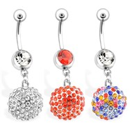 Dangling Disco Ball Belly Button Ring