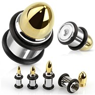 Pair Of Bullet Stainless Steel Plugs With O-Rings