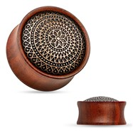 Lattice Pattern Antique Rose Wood Saddle Fit Plug